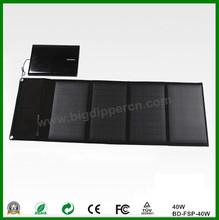 40W 18v&5v outdoor portable foldable solar mobile charger panel for mobile phone/tablet PC/laptop/battery etc.