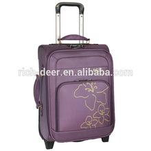 A053-3B flower printed royal polo luggage trolley case