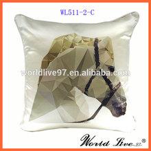 WL511-2-C 2014 Hot Selling New Designed Digital Printed Horse Cushion