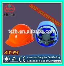 ANSI Z89 Standard construction HDPE material safety helmets