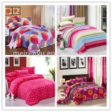 Hot Sale Twill Style Digital Printed Comfortable Coral Velvet Bedding Set