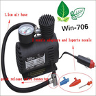 250PSI Portable Mini Car Air Pump Electric Air Compressor for Car / Motorcycle Multifunctional Air Pump