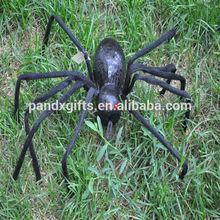 SPIDER WIHT BLACK SHINNING LIGHTS FOR HALLOWEEN GARDEN DECORATION
