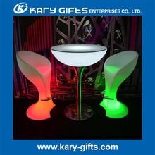 CE approved led bar furniture plastic led bar stool