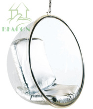 latest cheap clear acrylic hanging bubble chair
