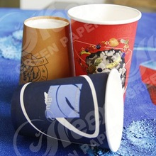 disposable coffee cups with lid / paper cup best price / various size ripple wall paper coffee cup