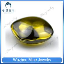 olive green wholesale cushion cut double cabochon zirconia gemstone