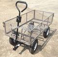 Cuatro ruedas plegable del carro de jardín
