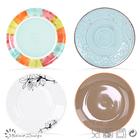 Wholesale cheap bulk food stoneware & porcelain plate,ceramic hotel used salad / dessert / soup / dinner plates,restaurant plate