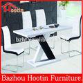 branco e preto top mdf lustroso elevado projetos mesa de jantar