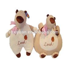 Brown stuffed plush soft carton bear toy for kids