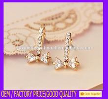 Hot sale jewelry magnetic non piercing stud earrings long crystal JS213