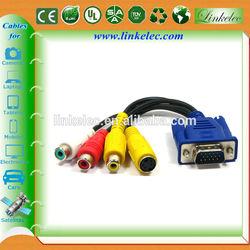 Gold plated factory supply vga rca cable vga rca