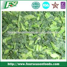 Iqf narural green frozen organic spinach cut