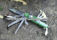 stainless steel led 11 multi tool multi functional knife with compass