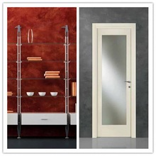 Interior Swing Wood tempered glass inserts door