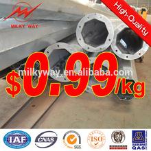 good quality galvanized power pole installation factory