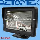 High quality 4.3 inch car lcd monitor, sunshield, digital screen (BTM-430)