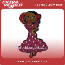cartoon girl 3d custom soft pvc magnet