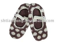 women Acrylic knitting pattern shoes