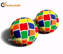 mixed-color solid rubber bouncing ball