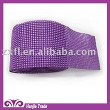 Fashion Crystal Rhinestone Trimming Withanping hexagonal Plastic Mesh