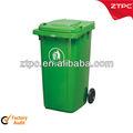 240l contenedor de residuos cubo de la basura cubo de basura con ruedas