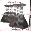 Superior calidad del pelo humano de extensión/cabello virgen a granel