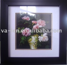 Beautiful flowers picture and black frame