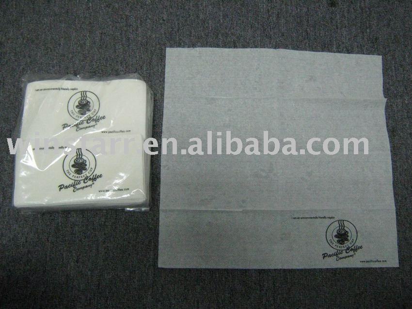 Almoço guardanapo de papel com impressões