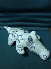 Tyvek stuffed animals with painting