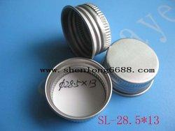 aluminium screw caps 28.5*13mm