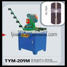 Automatischer offener Reißverschluss-lochende Maschine