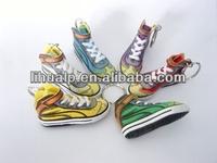 Promotion gifts reflective custom soft pvc shoe keychain