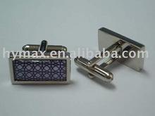 fancy epoxy metal cuff links