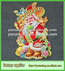 3D Glitter Paper Christmas Cut Clause & Ornaments santa claus window sticker