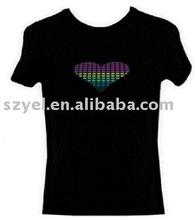 Flashing sound active led t shirt wholesale,el t-shirt Online Shopping