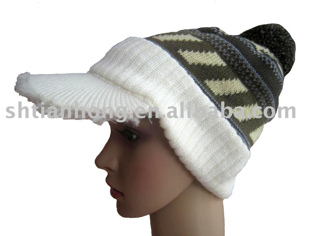 fashion acrylic peak knit beanie, View peak knit beanie ...