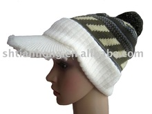 fashion acrylic peak knit beanie