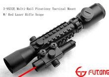 Riflescope 3-9X32E Multi-Rail Picatinny Tactical Mount W/ Red Laser Rifle Scope Tactical Scope