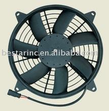 10 inch 80W S blade auto condenser fan,car fan motor