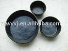 Durable Rubber pails&tubs,pet feed pans,2qt tubs