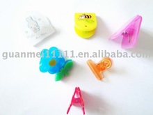 new style colorful lovely plastic clips spring clip