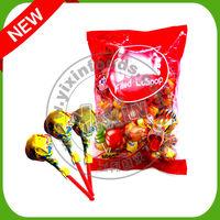 Fruit Lollipop with Gum Filling