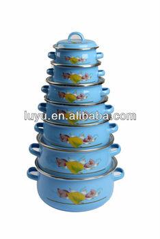 Enamelware casserole 7pcs set