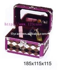 2015 new design Aluminum tattoo kit case, Aluminum Cosmetics case , makeup case with mirror and lock