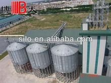 1500t parte inferior de la tolva de acero galvanizado silo de cargill para el molino de piensos en vietnam