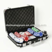 Poker Chip Set 200 in Black Color Aluminum Case