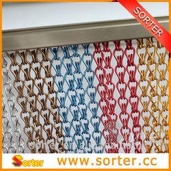 Unique metal decorative aluminum link chain curtain