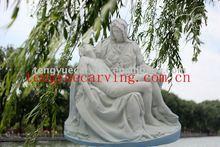 famous religious the pieta white marble statue
